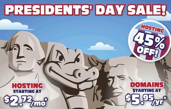 President's Day Sale 2014 Hostgator